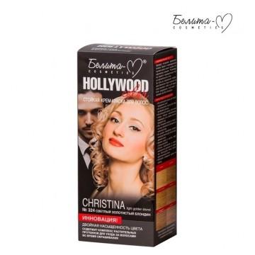 Стойкая крем-краска для волос № 324 Кристина (Christina) светлый золотистый блонд