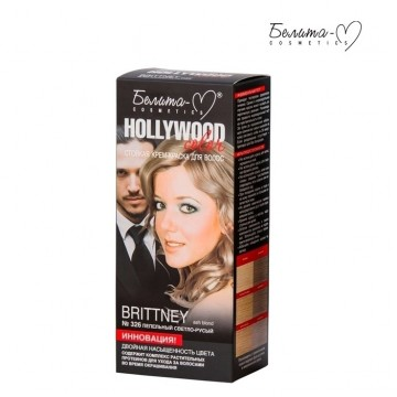 Стойкая крем-краска для волос Hollywood-color №326 Бритни (Brittney) пепельный светло-русый