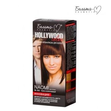 Стойкая крем-краска для волос Hollywood-color №332 Наоми (Naomi) темно-коричневый