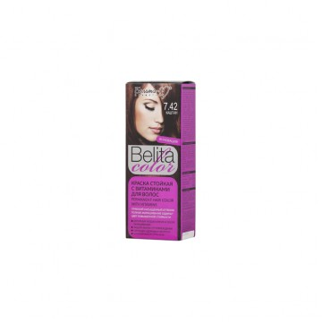 Стойкая крем-краска для волос № 7.42 Каштан
