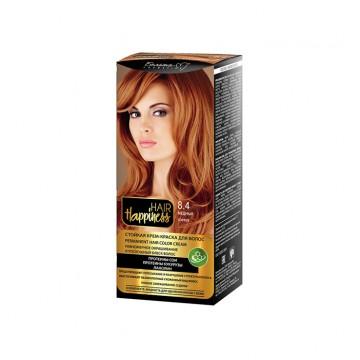 Стойкая крем-краска для волос серии тон № 8.4 Медный