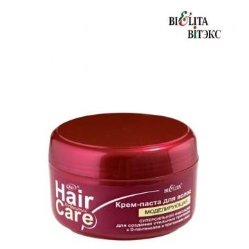 Крем-паста для волос моделирующая суперсильной фиксации для создания стильных причесок с D-пантенолом и протеинами риса
