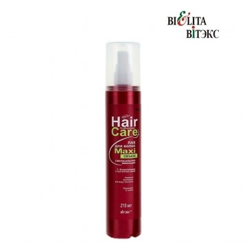 Лак для волос МАXIобъём сверхсильной фиксации с D-пантенолом и протеинами риса, 215 мл