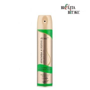 Лак для волос с экстрактами крапивы и лопуха экстрасильной фиксации
