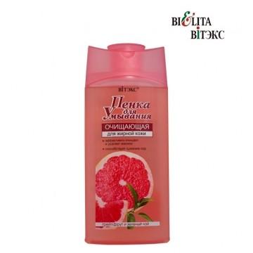 """Пенка для умывания Очищающая """"Грейпфрут и зеленый чай"""" для жирной кожи"""