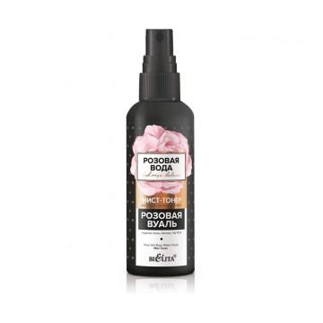 Мист-тонер для лица с розовой водой «Розовая вуаль»