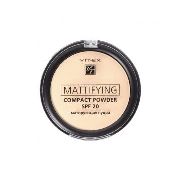 Матирующая компактная пудра для лица Mattifying compact powder SPF20 тон 02 Natural beige