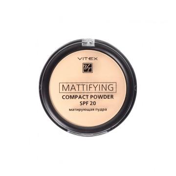 Матирующая компактная пудра для лица Mattifying compact powder SPF20 тон 03 Soft beige