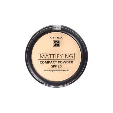 Матирующая компактная пудра для лица Mattifying compact powder SPF20 тон 04 Sand beige