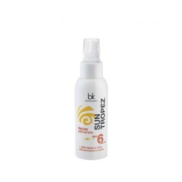 Масло для загара SPF 6 UVA+UVB для лица и тела для безопасного загара