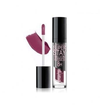 Супер стойкий блеск для губ Smart girl Million kisses тон 219 черничная ночь
