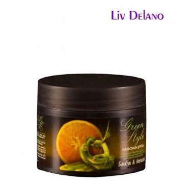 Стимулирующая маска-уход «Бамбук&Апельсин» для придания блеска тусклым волосам