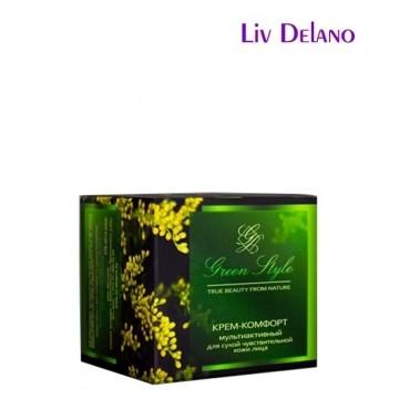 Крем-комфорт мультиактивный для сухой чувствительной кожи лица (дневной)