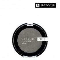"Тени для век ""Relouis Pro Eyeshadow Metal"" тон 55 Anthracite"